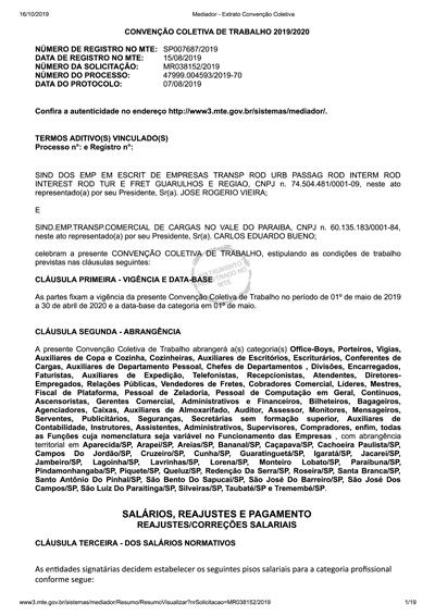 CCT HOMOLOGADA 2019
